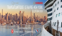 Transatlantique Le Havre - New York Vol Retour & Accompagnement Francophone Inclus
